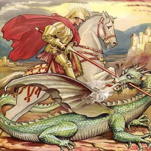 Leumas combatte il drago- le tazzine di yoko