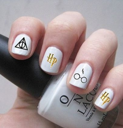 Nail art a tema Harry Potter