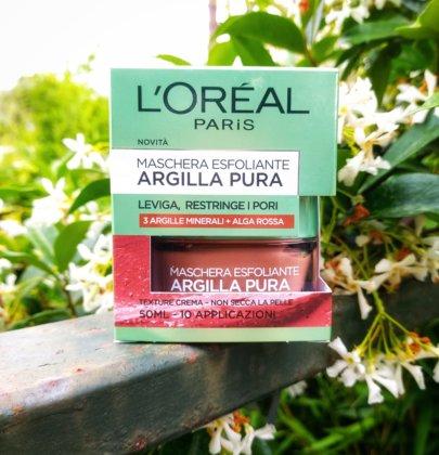 Beauty & Letture: Maschera esfoliante all'argilla pura di l'Oreal