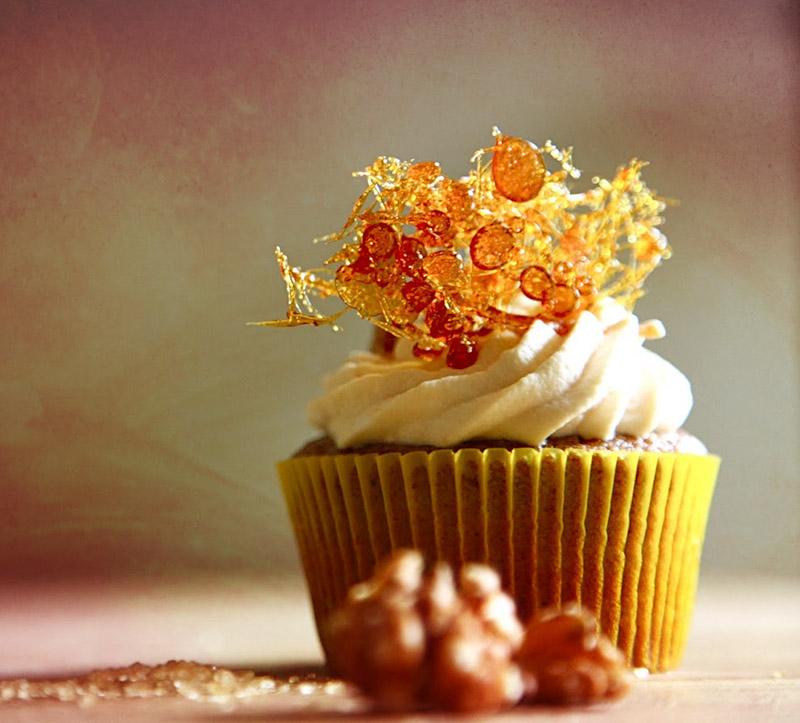 cupcake alle noci e caramello
