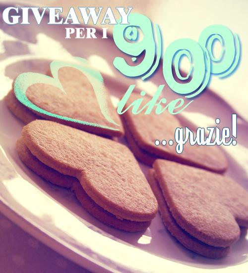giveawayPERi900 like nella fanpage facebook di le tazzine di yoko