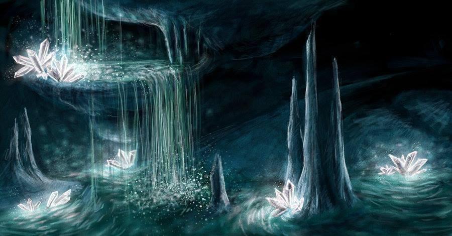 grotta con cristalli