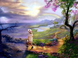 paesaggi magici-le tazzine di yoko