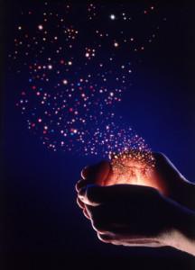 Hands Releasing Stars